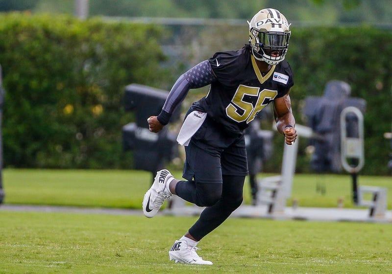 New Orleans Saints linebacker Demario Davis (56) during organized team activities at the Ochsner Sports Performance Center. Mandatory Credit: Derick E. Hingle-USA TODAY Sports