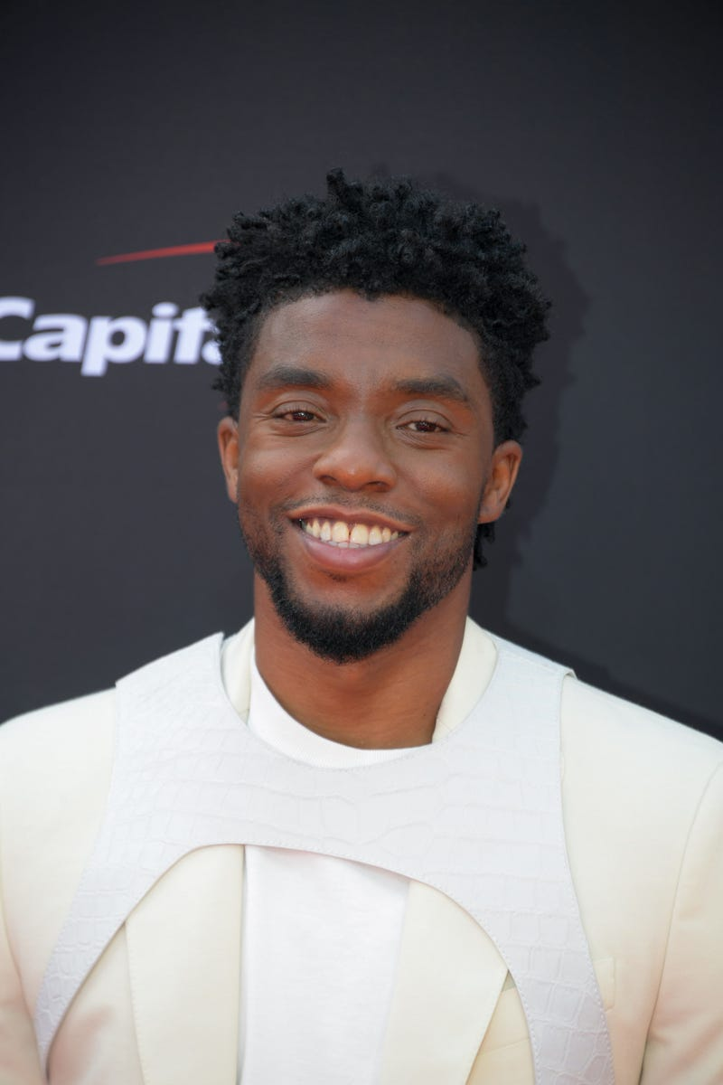American actor Chadwick Boseman arrives for the 2018 ESPYS at Microsoft Theatre.