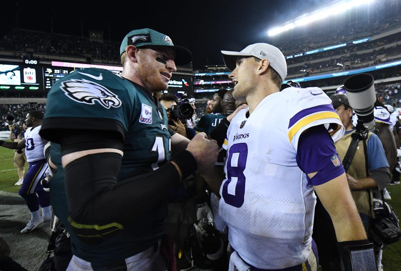 Carson Wentz (left) and Kirk Cousins (right) will meet in Week 6.