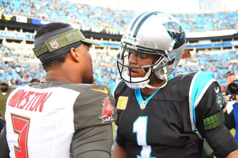 Jameis Winston (left) and Cam Newton (right) will meet on Thursday Night Football.