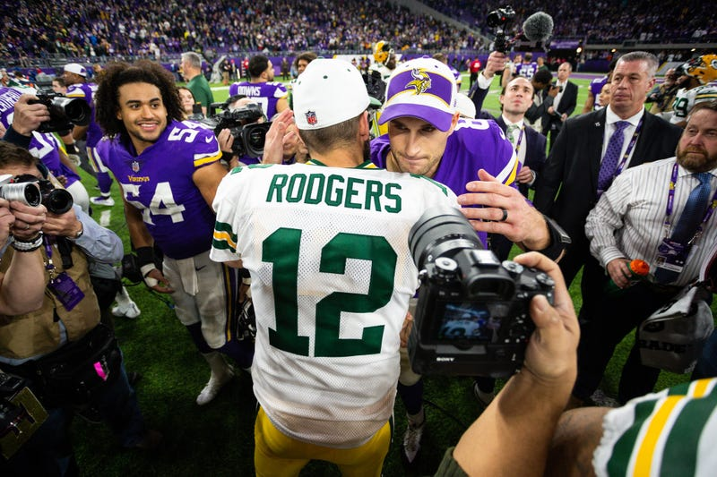 Aaron Rodgers and Kirk Cousins will meet Sunday in Minnesota.