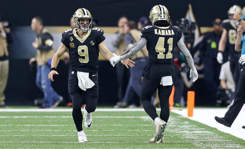 Drew Brees (left), Alvin Kamara (right) and the Saints are looking to rebound from a crushing playoff loss.