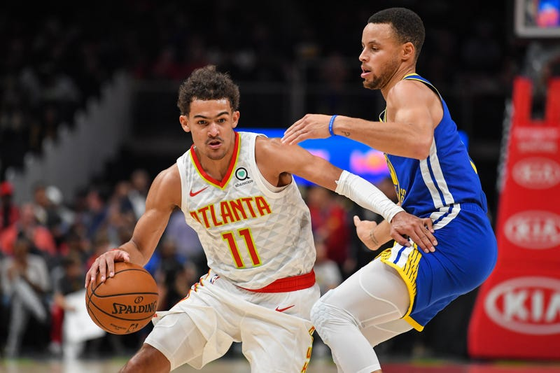 Trae Young and Steph Curry