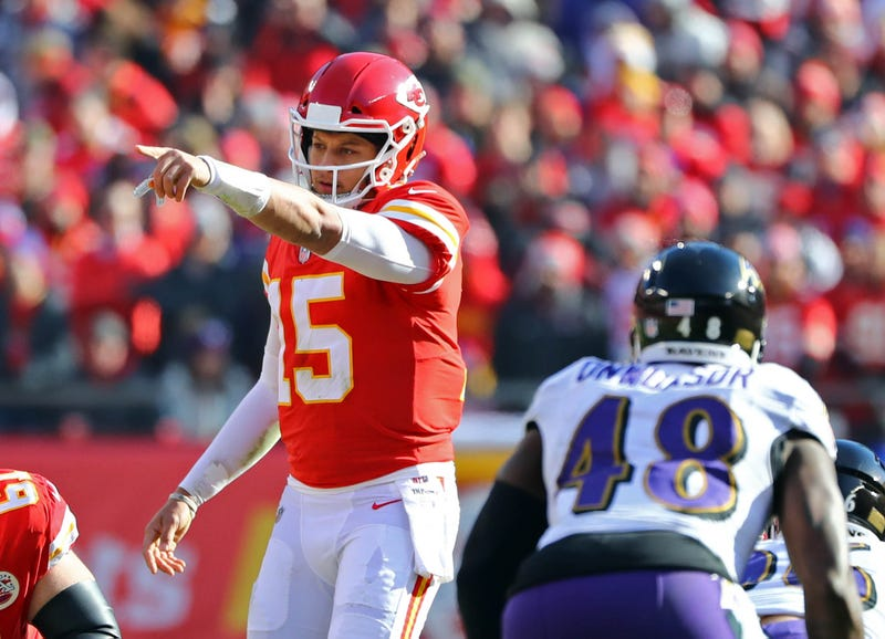 Patrick Mahomes and the Chiefs will host the Ravens this week.