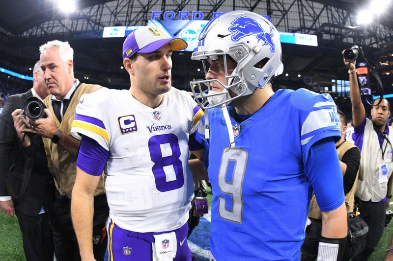 Kirk Cousins and Matthew Stafford will face off Sunday.