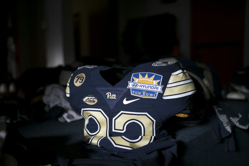 old Pitt uniform with Sun Bowl patch