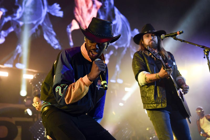 Lil Nas X performs with Billy Ray Cyrus