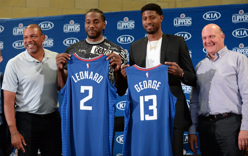 Kawhi Leonard (left) and Paul George (right) joined the Clippers this offseason.