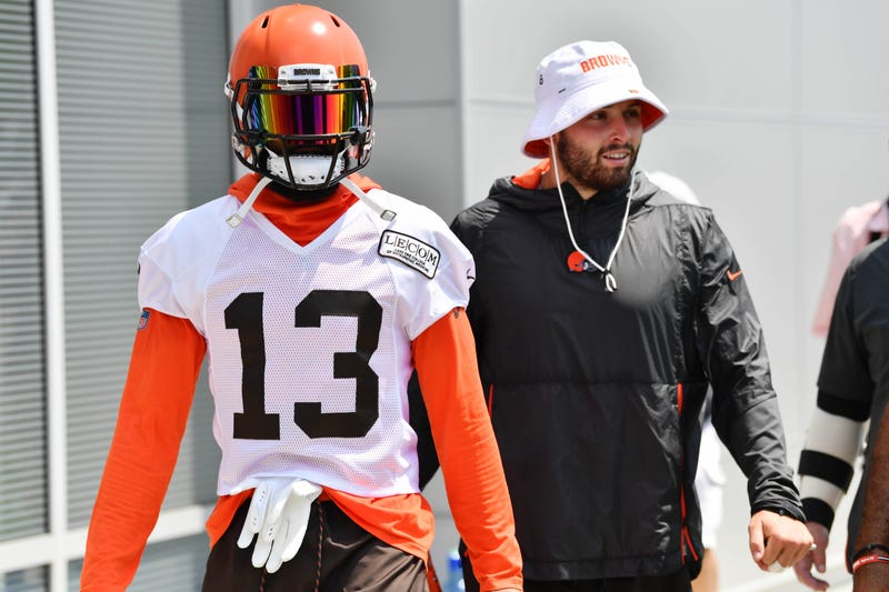 Odell Beckham Jr. (left) and Baker Mayfield (right) will join forces in 2019.