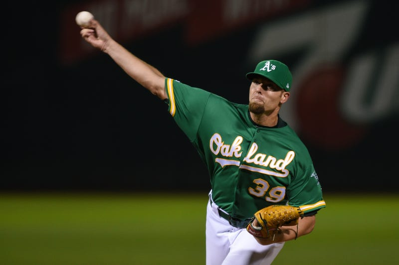 Blake Treinen was non-tendered by the Oakland A's.