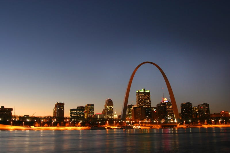 The St Louis Skyline, including the iconic Gateway Arch