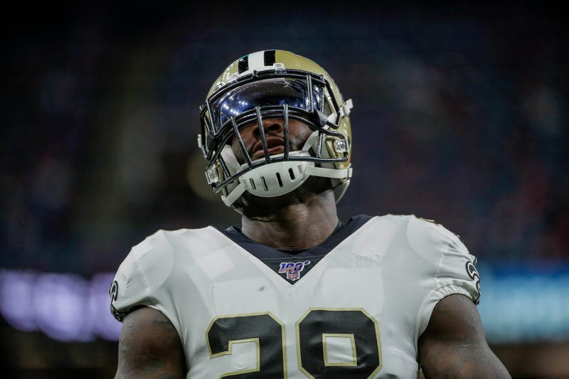 Latavius Murray is in his first season with the New Orleans Saints.