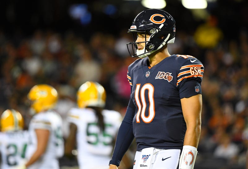 Mitchell Trubisky struggled in the Bears season-opener.