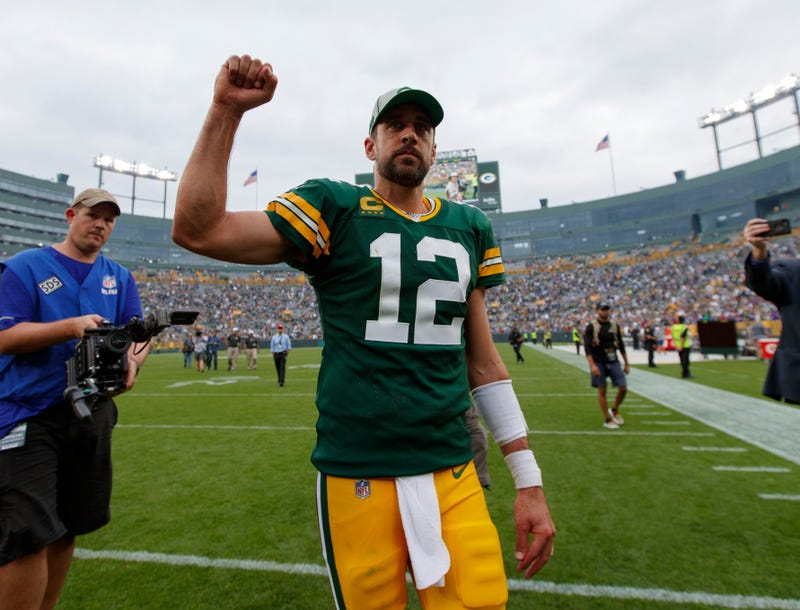 Aaron Rodgers and the Packers are 2-0.