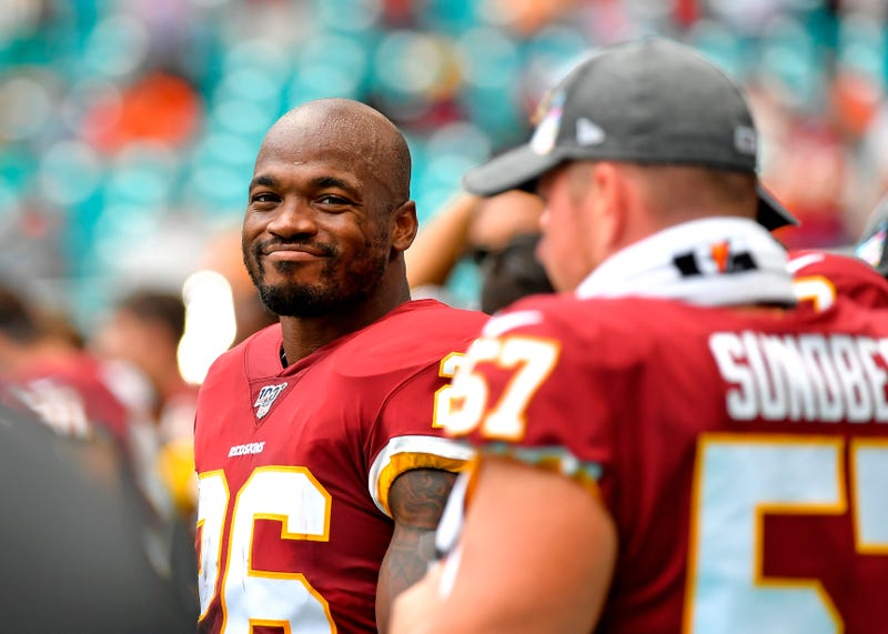 Adrian Peterson and the Redskins won their first game in Week 6.