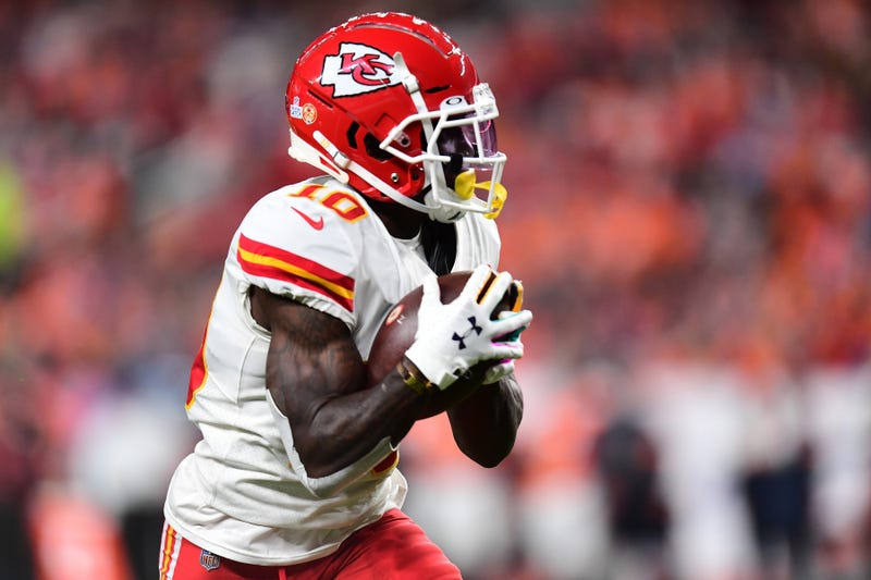 Tyreek Hill and the Chiefs will be without Patrick Mahomes indefinitely.