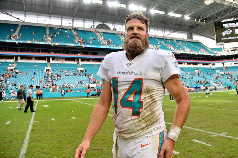 Ryan Fitzpatrick and the Dolphins won their first game of 2019 in Week 9.
