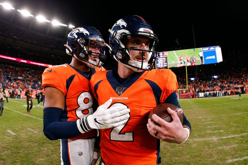 The Broncos were victorious is Brandon Allen's first start.
