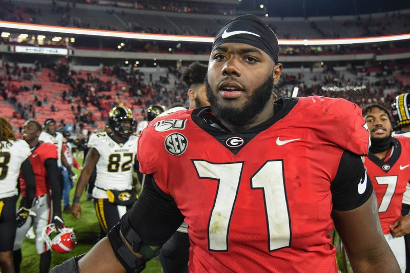 Andrew Thomas is the top offensive lineman expected to be available in the 2020 NFL Draft.