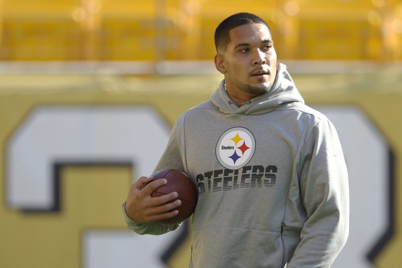 James Conner at Steelers practice