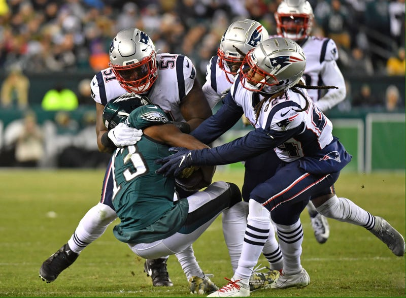 The Patriots defeated the Eagles in Week 11.