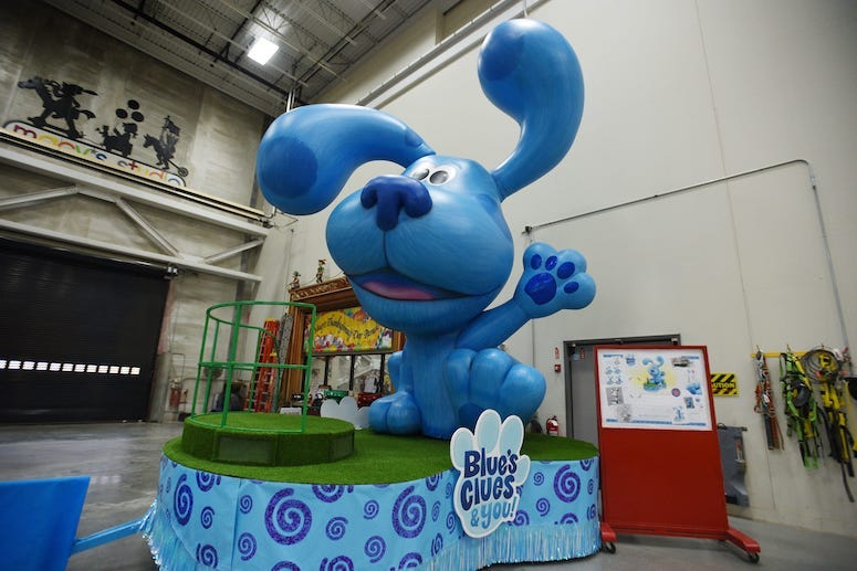 Inflatable float of Blue's Clues