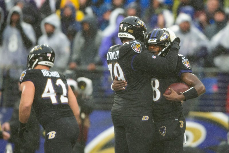 Lamar Jackson and the Ravens won their 10th game Sunday.