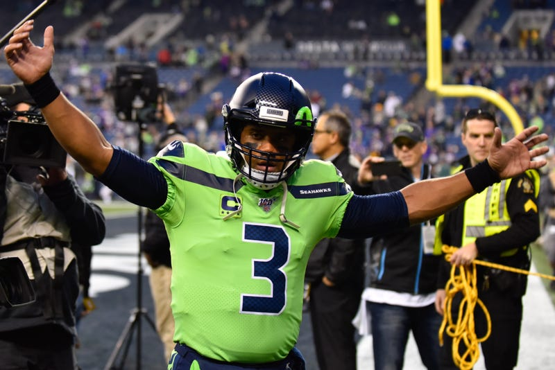Russell Wilson and the Seahawks won on Monday Night Football.