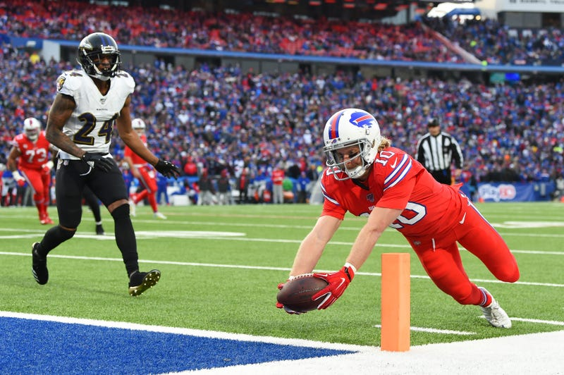 Coley Beasley and the Bills lost a close game against the Ravens.