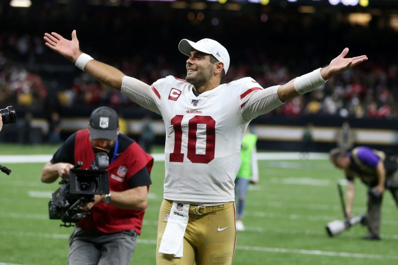 Jimmy Garoppolo led the 49ers to a win in New Orleans.