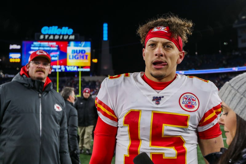 Patrick Mahomes and the Chiefs defeated the Patriots in Foxborough Sunday.
