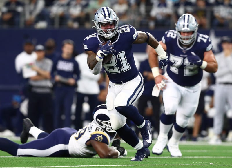 Ezekiel Elliott and the Cowboys blew out the Rams in Week 15.