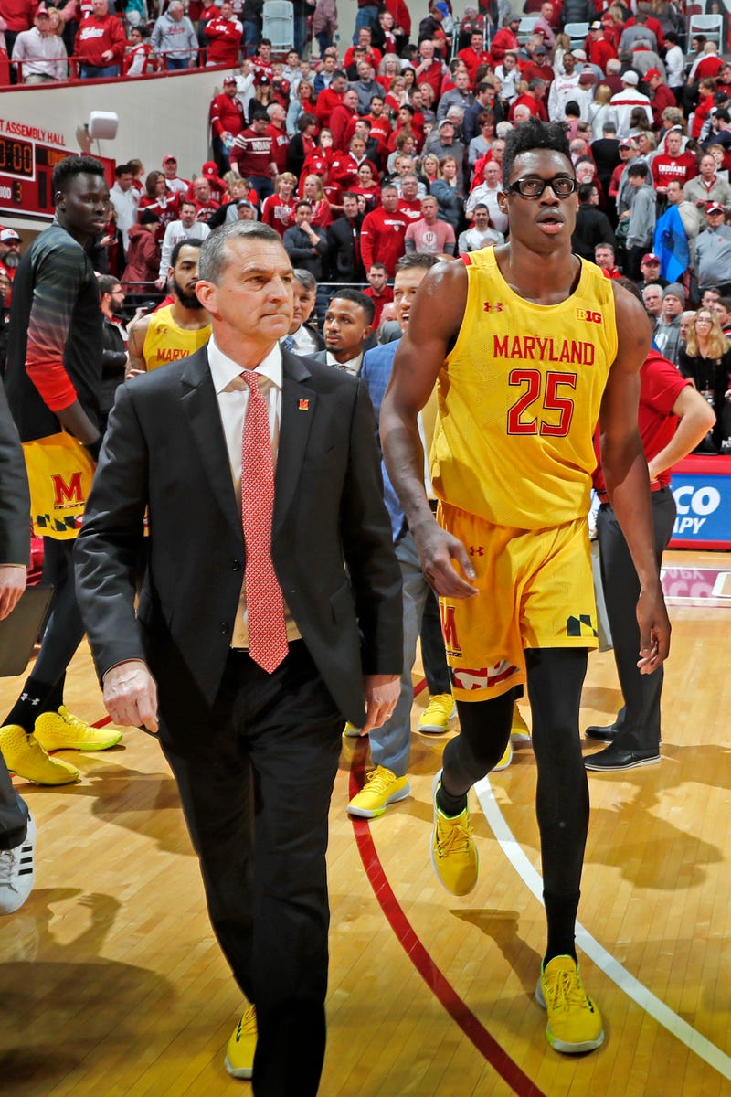 Terps Head Basketball Coach Mark Turgeon and Former Terp Jalen Smith