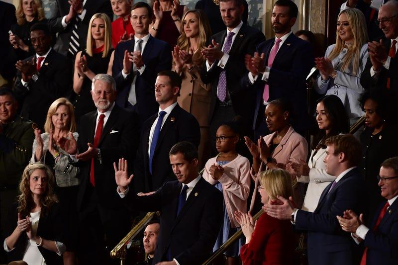 Juan Guaidó recibe ovación en el discurso del Estado de la Unión de los Estados Unidos el 4 de febrero del 2020.