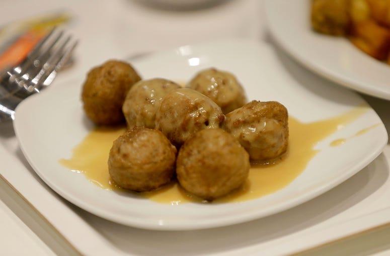 Plate of Swedish Meatballs