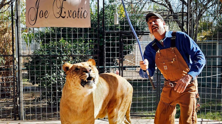 Joe Exotic promises he would 'work' with Carole Baskin if it meant he'd get a pardon