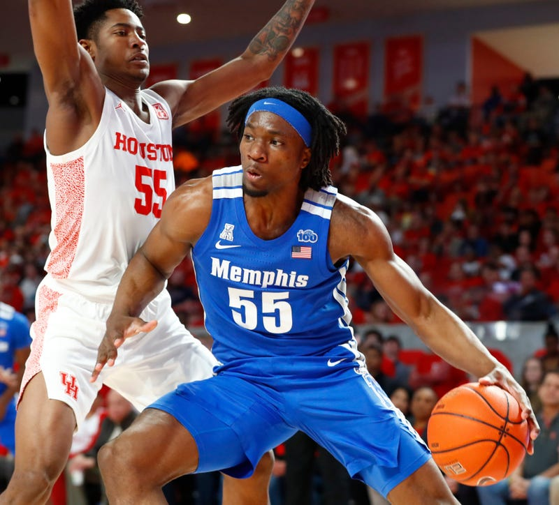 Heat rookie Precious Achiuwa with Memphis in 2020