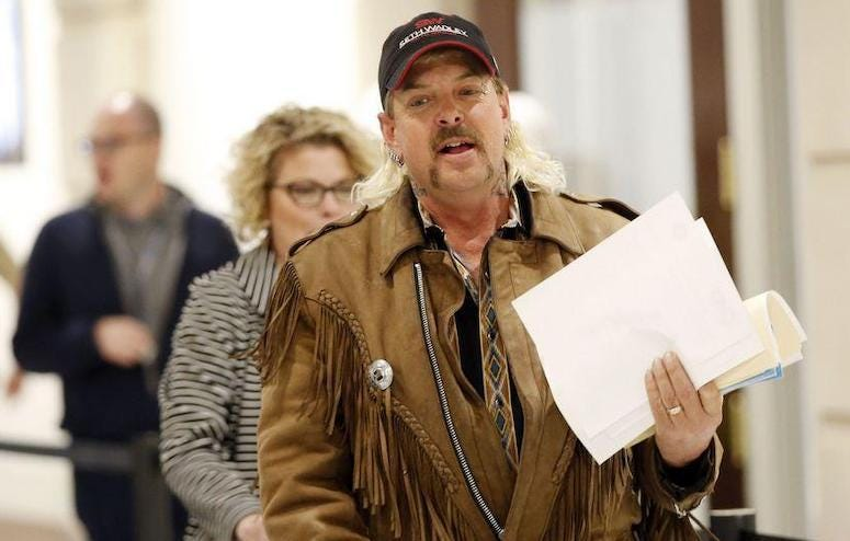Joe Exotic filing paperwork to run for governor