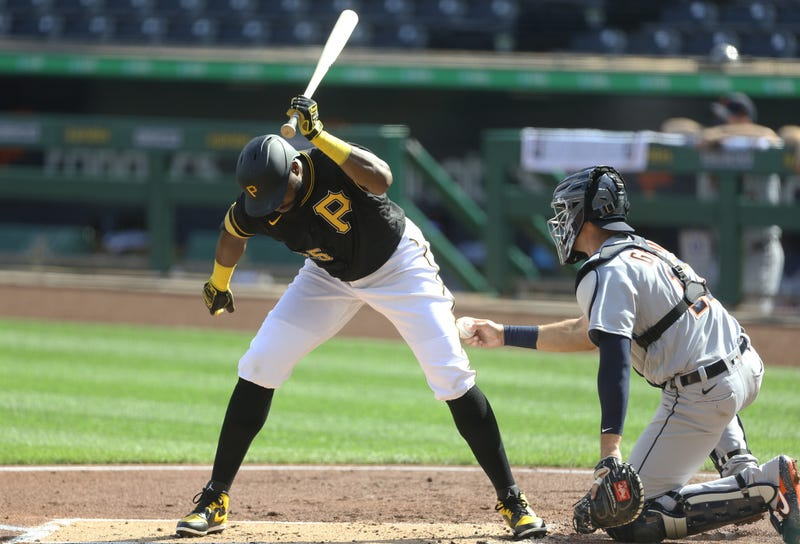 Pittsburgh Pirates right fielder Gregory Polanco (25) reacts to striking out