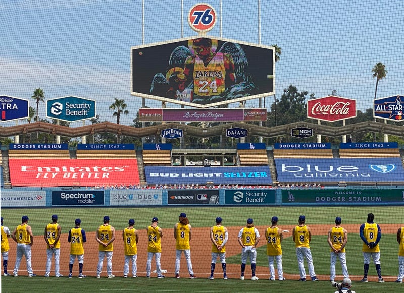 The Los Angeles Dodgers honor Kobe Bryant