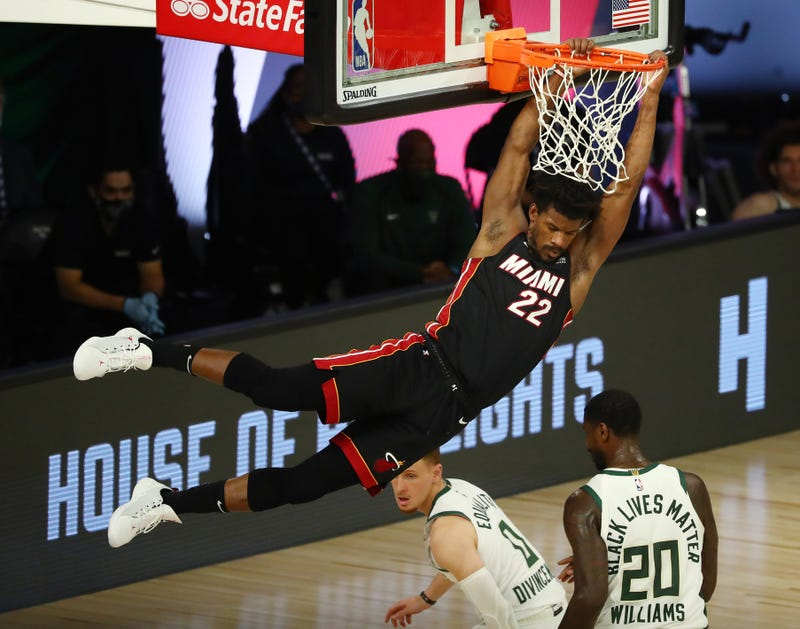 Jimmy Butler plays above the rim in Game 1