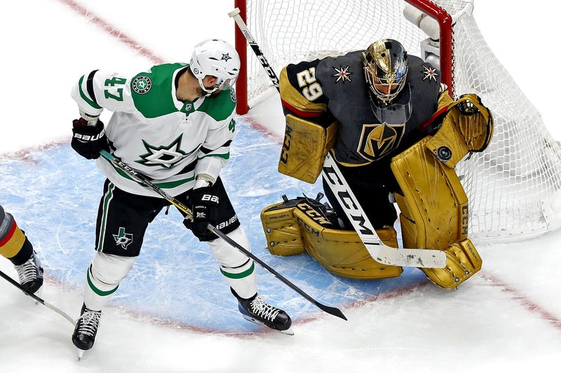 Knights goalie Marc-Andre Fleury