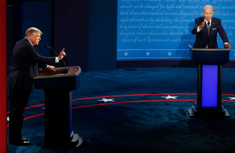 Donald Trump and Joe Biden at the first debate