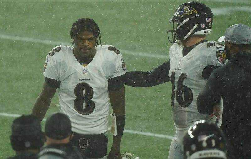 Ravens look dejected after a loss