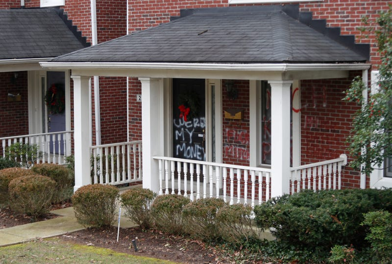 United States Senate Majority Leader Mitch McConnell's home in Louisville was vandalized