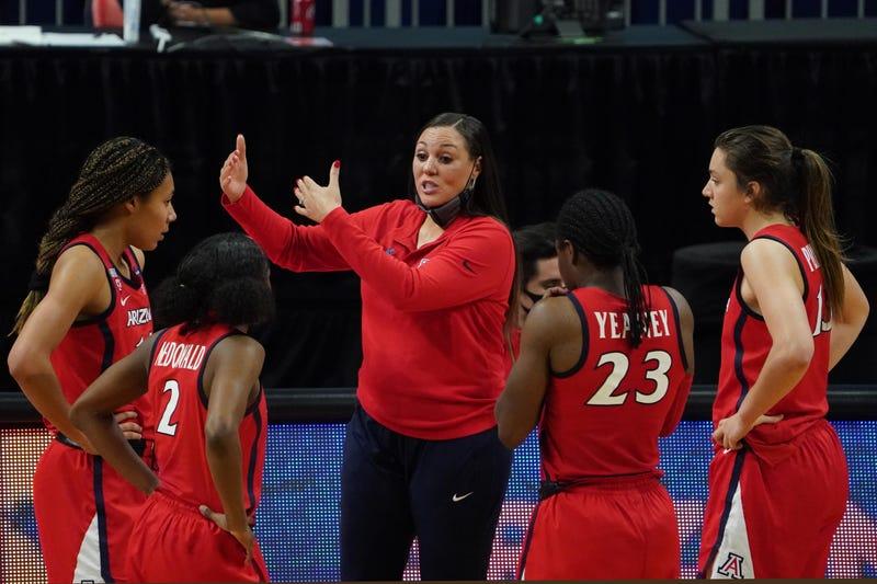Arizona head coach Adia Barnes.
