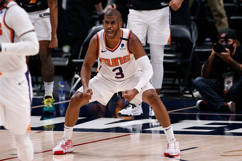 Suns star Chris Paul on the court.