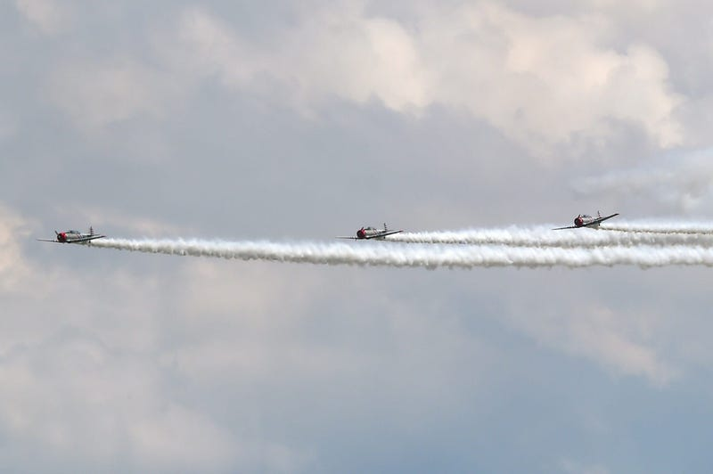 The GEICO Skytypers Air Show Team practice on Friday for the 2021 Greater Binghamton Airshow.