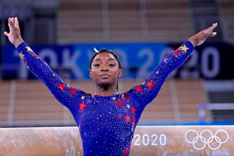 US Olympic gymnast Simone Biles.