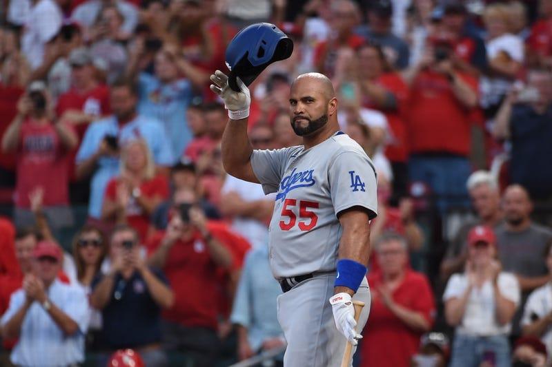Dodgers slugger Albert Pujols.
